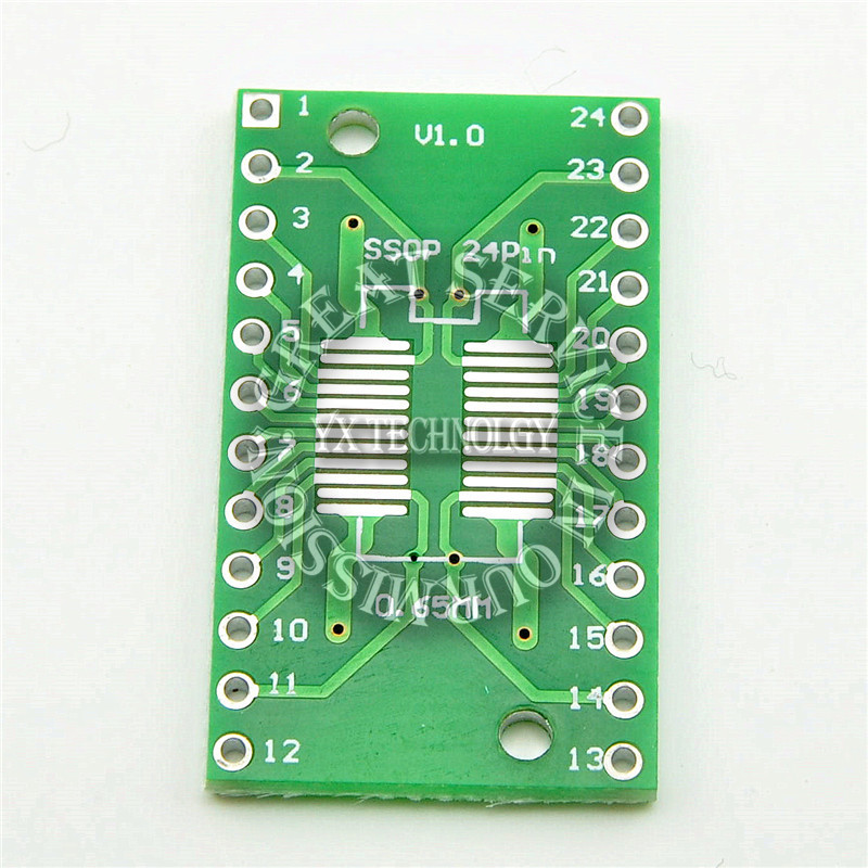 5Pcs SMD SOP24 SSOP24 TSSOP24 to DIP24 Adapter PCB IC Converter Plate