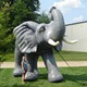 Customized inflatable African elephant for advertising