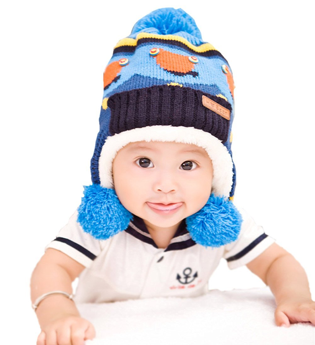 9f1509b6b Buy Baby Infant Cute Cap Earflap Hat Earmuff Cap Winter Keep Warm ...
