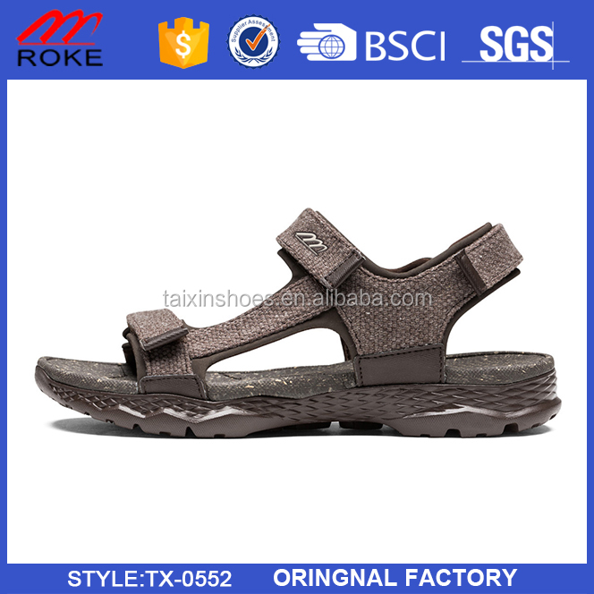 Men casual walking shoes europe style relaxation fabric beach sandal shoes