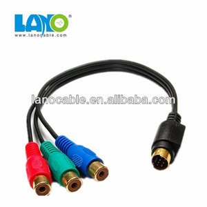 High Quality 10 PIN Mini DIN to RCA Cable AV Cable