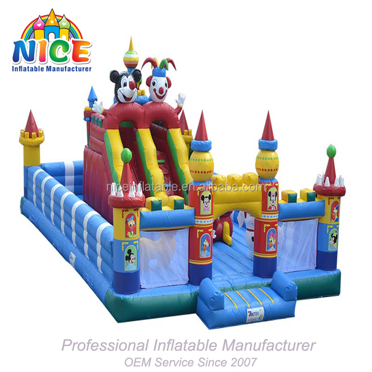 2018 big funny inflatable fun city games,fun city games inflatable