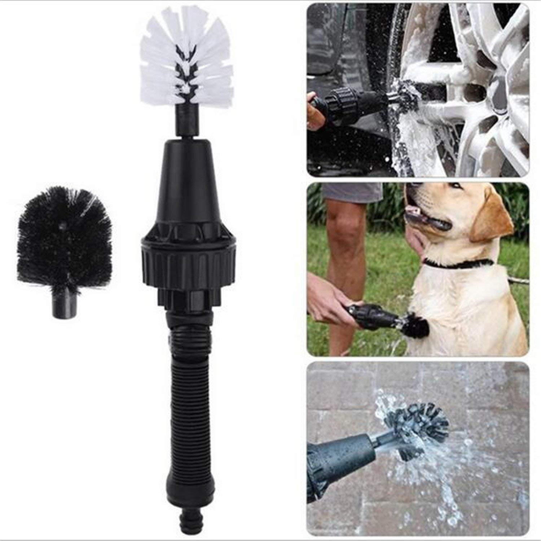 Wheel Brush, Premium Water-Powered Turbine for Rims, Engines, Bikes, Equipment, Furniture and More