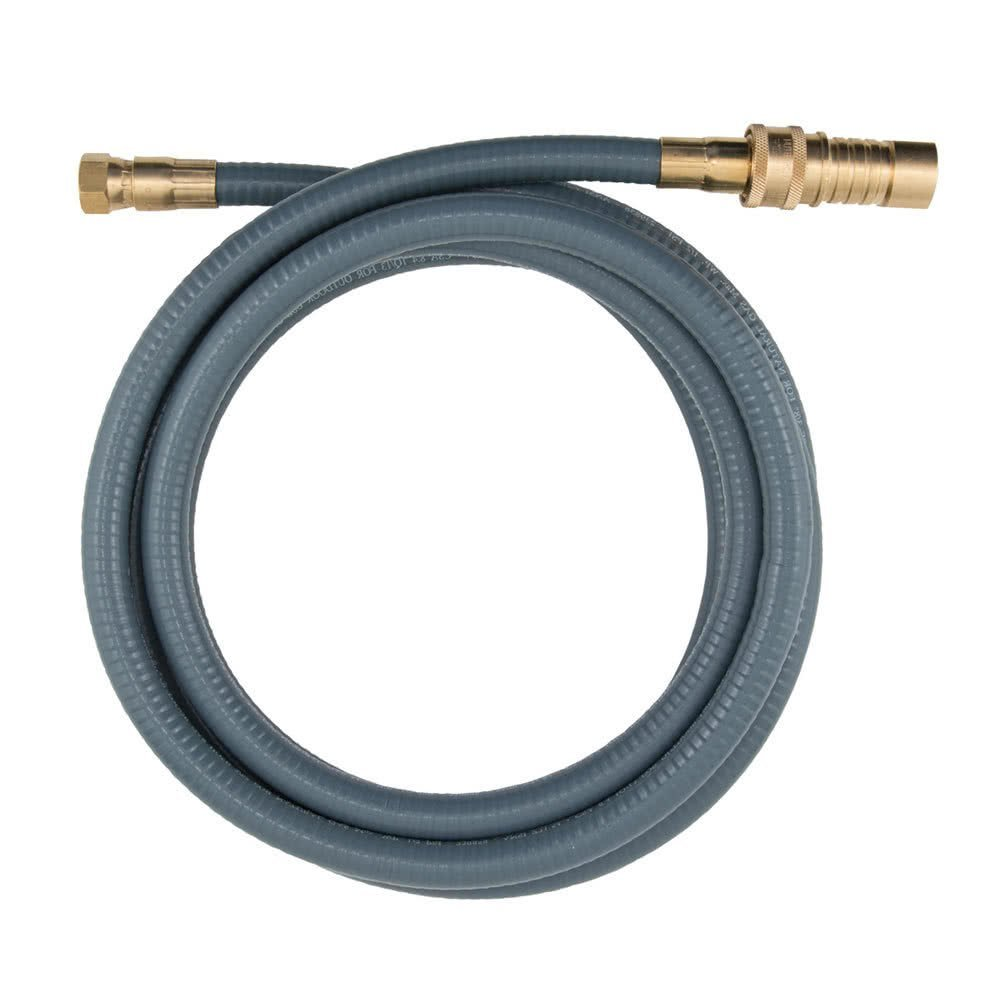 "TableTop King 20D-10QD Portable Outdoor Gas Connector with Quick Disconnect for Natural Gas and Liquid Propane Appliances - 3/8"" x 10'"