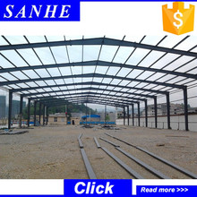 high rise steel structure warehouse/workshop building with free design drawing