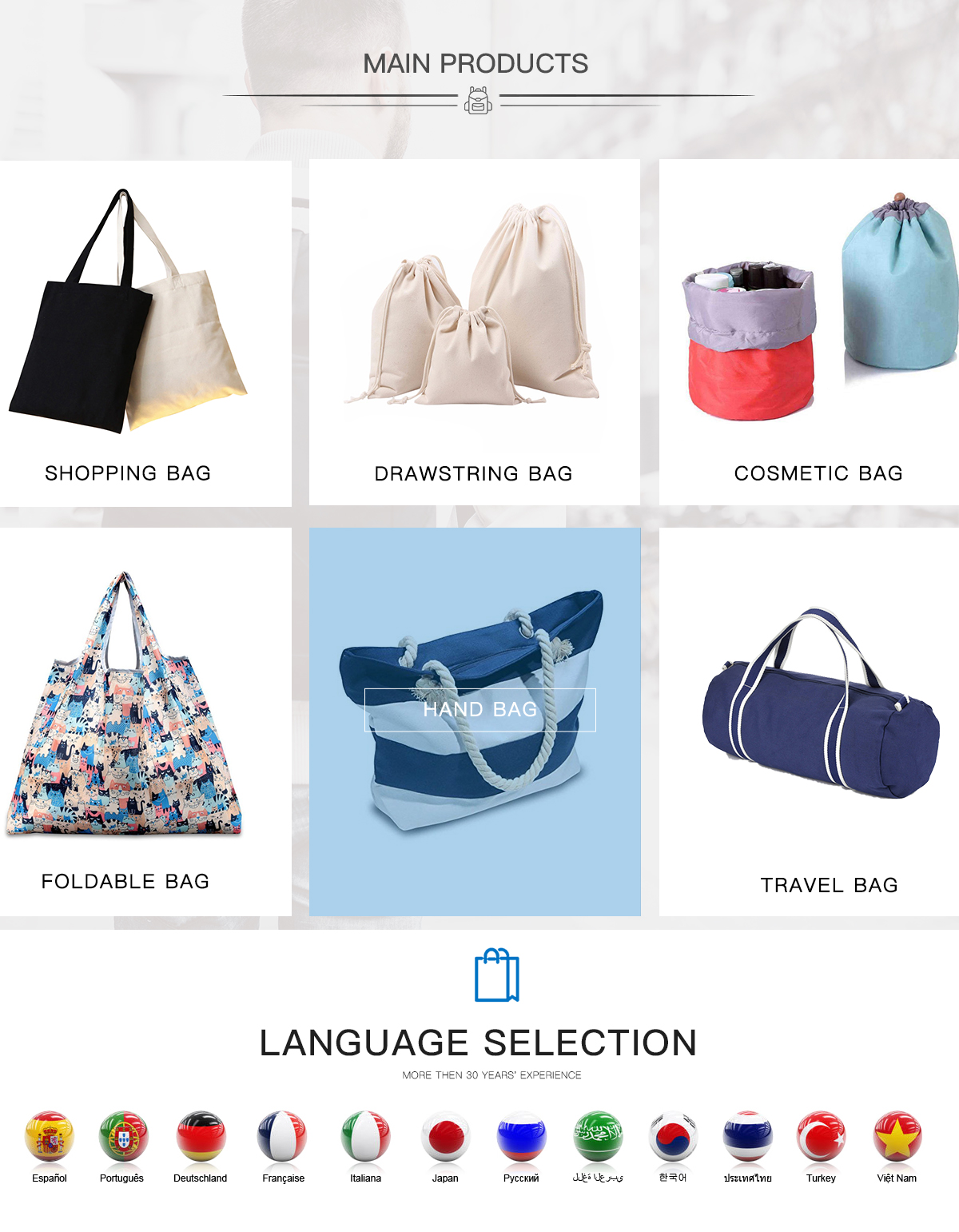 fe74c8171de8 Cangnan Qi Di Bag Co., Ltd. - Shopping Bag, Cosmetic Bag