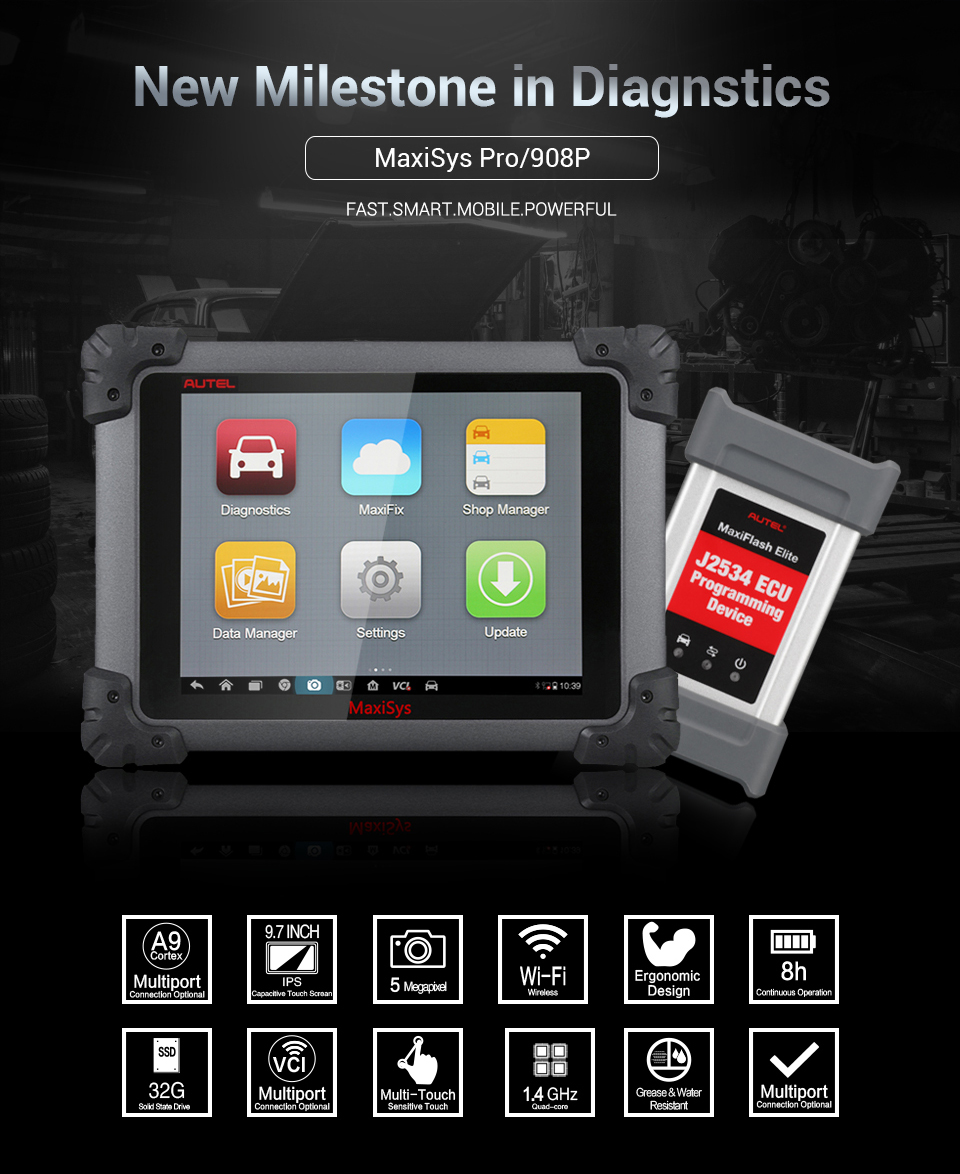 Autel Maxisys Ms908 Pro Autel Maxisys Elite Pro Diagnostic Tool Autel  Ms908p Car Diagnostic Machine - Buy High Quality Autel Maxisys Ms908  Pro,Autel