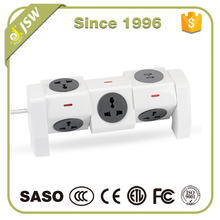Multi plug 5 outlet socket electric surge protector extension board power strip bar with usb port
