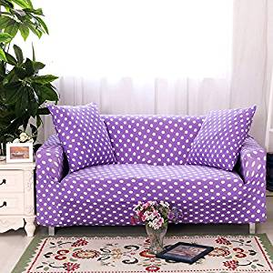 Get Quotations Yiwant Sofa Slipcover Protector Cover Polka Dot Polyester Spandex Fabric Elastic Covers Loveseat