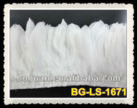 White 6-7inches Swan shoulder feathers