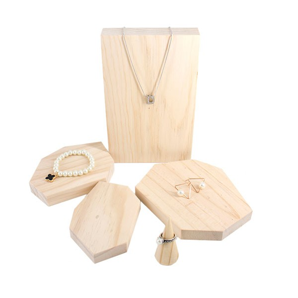 Fashion Design Luxury Custom Wood Jewelry Display Planes
