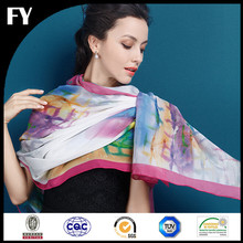 Factory manufacturer digital printing silk scarf customized
