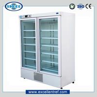 2 doors type medical refrigerator used in pharmacy