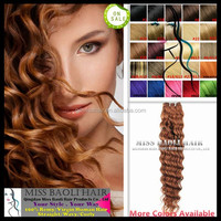 Double Weft Wholesale Factory Price Cuticles Remy Hair 2016 Best Selling Honey Blonde Curly Weave Hair
