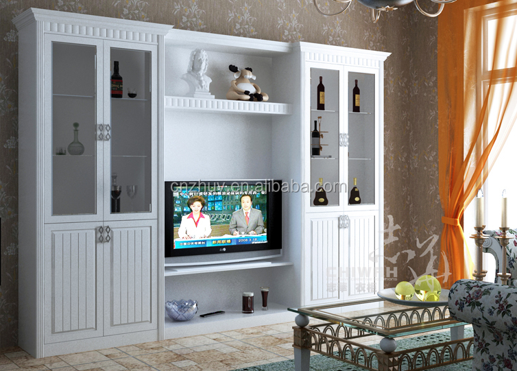 Modern Wooden Corner Tv Cabinet With Showcase Buy Wooden