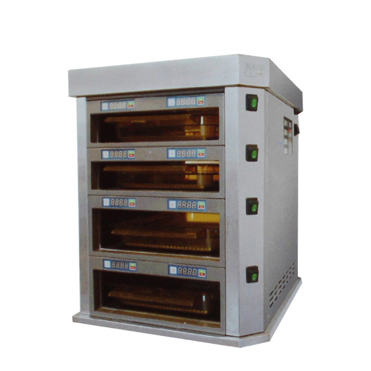 0.52m 4-Layer Hamburger Warming Display Cabinet With Computer Controller Two Sides Opening