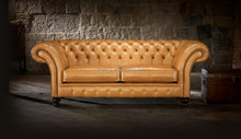 Grosvenor Chesterfield clásica cuero SOFA Set 1 + 1 + 3