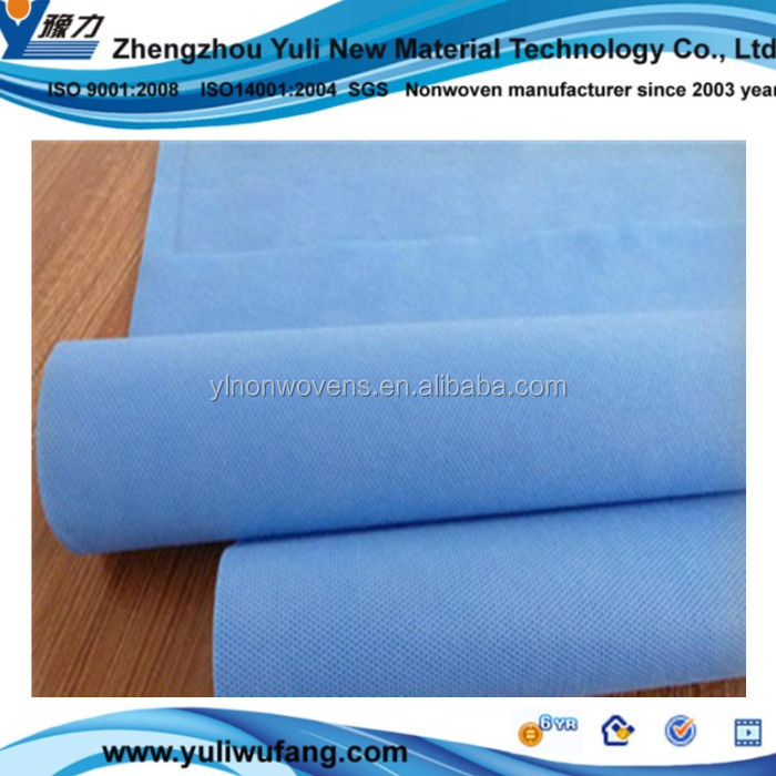 China supplier Medical blue SMS non woven fabric material