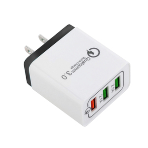 Portable Travel Charger Multi Usb Wall Charger US EU Plug 3 Port Power Adapter QC3.0