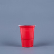 HD-480 PP disposable plastic 480ml Red/White cups
