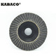 Aluminum oxide/Zirconia/Silicon carbide nylon backing dual flap disc