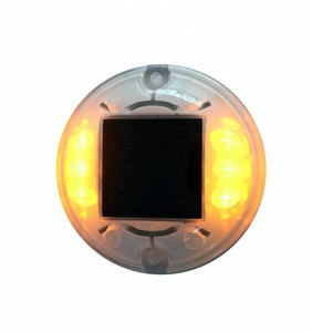 High quality Factory Price 20T load capacity PC round shape flashing solar led cat eyes road stud