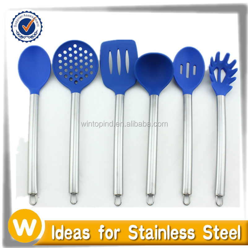 Food Grade Silicone Kitchen Cooking Utensil Cooking Tool with Stainless Steel handle
