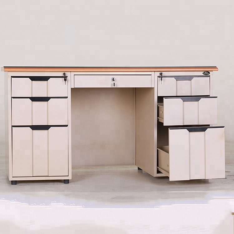 Commercial Office Double Cabinet Metal Office Desk