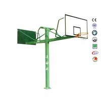 Physical education double basketball stand basketball post size with basketball board