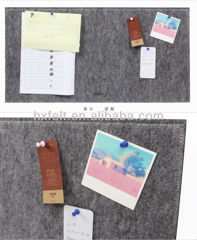 Multifunctional hanging felt message boards for showing and reminding