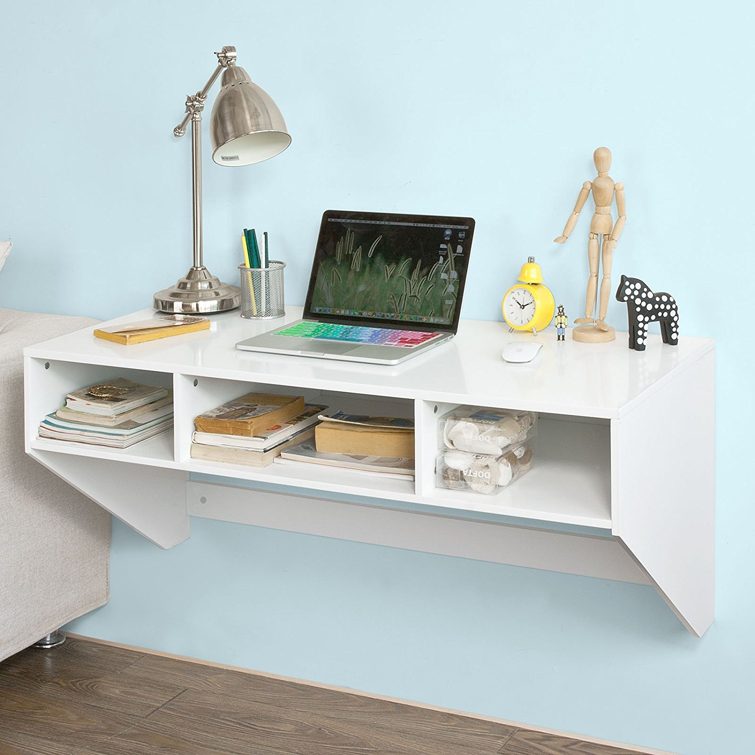 Incroyable Get Quotations · Haotian Wall Mounted Table Desk,Home Office Desk  Workstation,Floating Desk With Storage