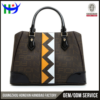 China Oem Factory Design Your Own Leather Handbag Contrast Beautiful New Style Fashion Las Handbags