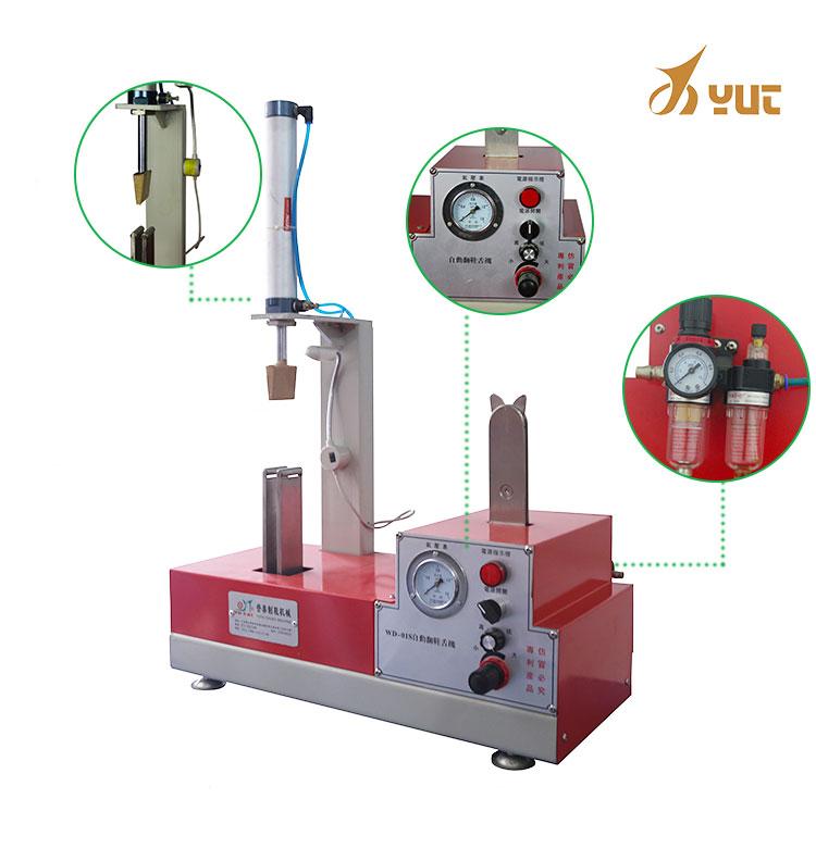 Pneumatic pressing double tongue shoe machine