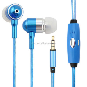 electronics EL laser light metal earbuds LED glowing headphones in ear earphone