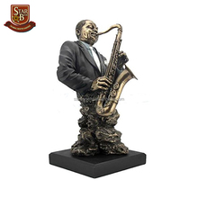 Musicista decorativo personalizzato resina jazz <span class=keywords><strong>busto</strong></span> figurine