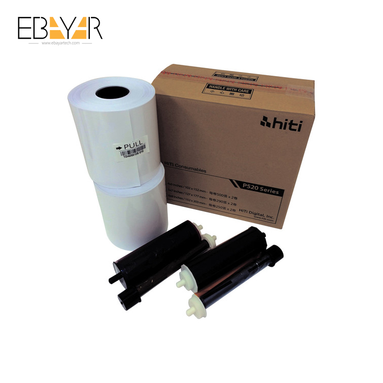 Photo Booth Accessories Media Set Photo Printer Roll Paper P520L and P525L - 4 x 6 Ribbon
