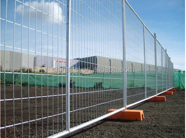 Steel Fence Construction : Galvanized temporary construction fence panels