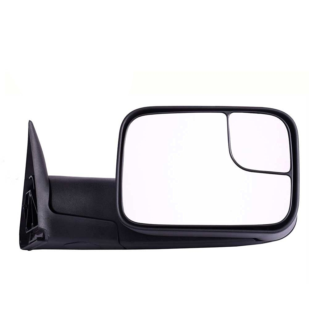 DEDC Dodge Tow Mirrors Dodge Ram 1500 2500 3500 Towing Mirrors Right Passengers Side Manual Folding With Support Brackets For 1994-2002 Dodge Ram 1500 2500 3500
