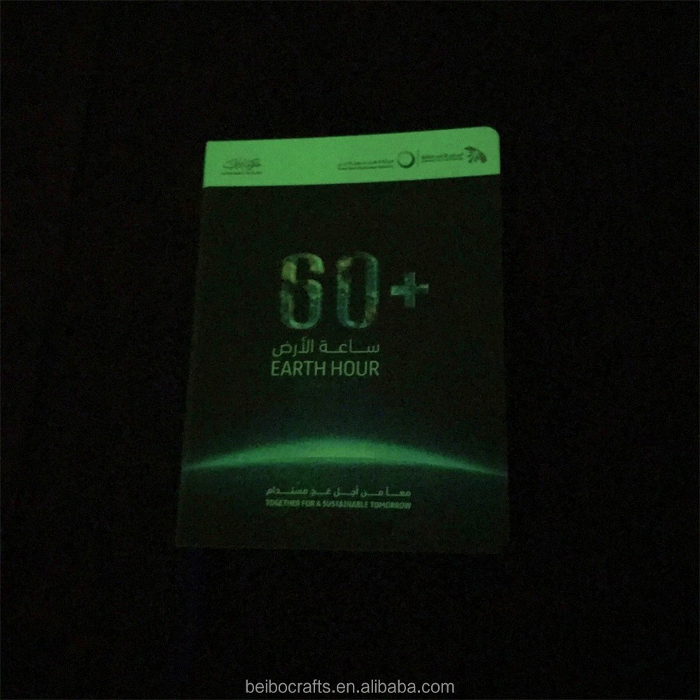 2017 new product Glow in the dark notebook