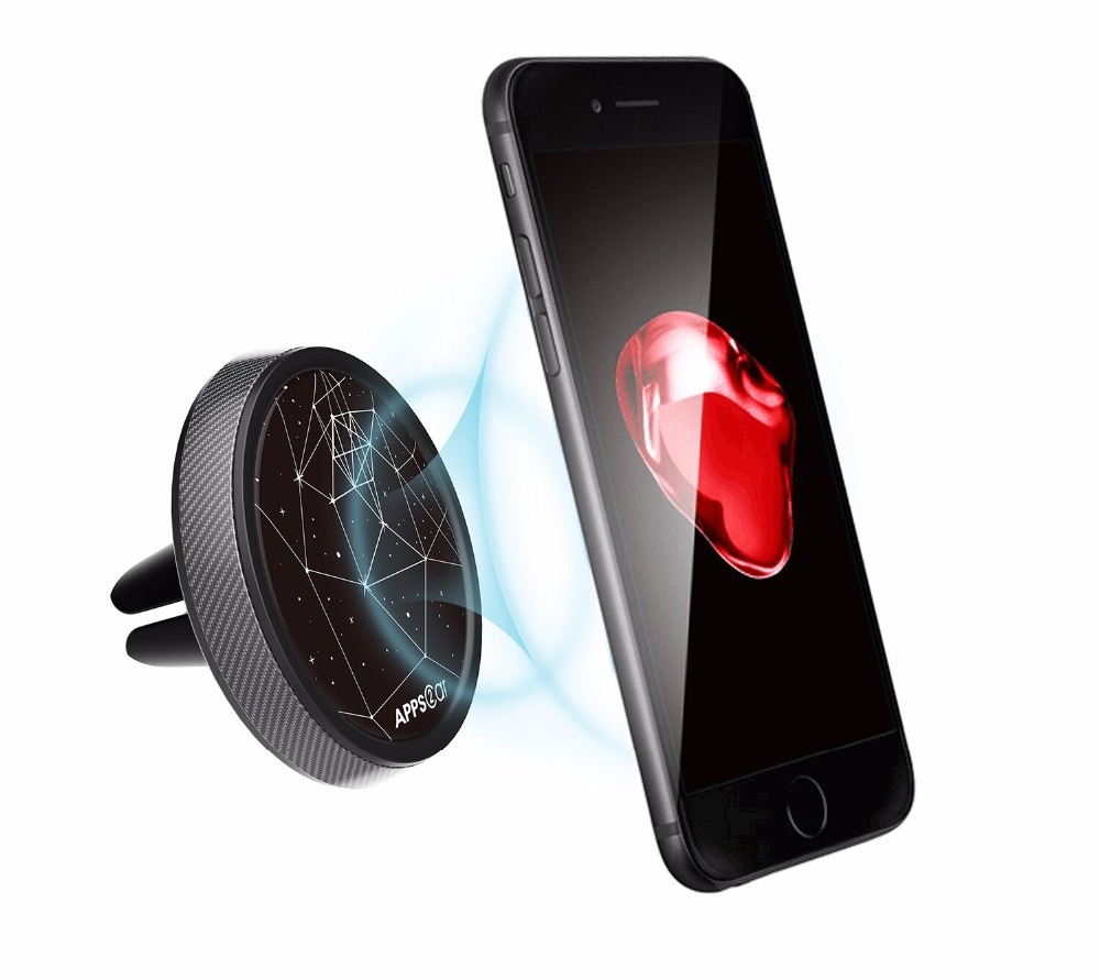 High Quality Universal Mobile Cell Phone Air Vent Mount Magnetic Car Phone Holder for iphone 8 7 X