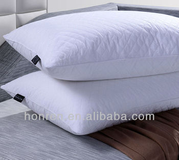 quilted microfiber pillow 100 down and feather pillow
