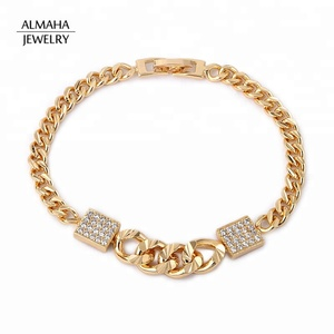 Dubai Fashion Wholesale Women CZ 18k gold Zircon Bracelet Jewellery