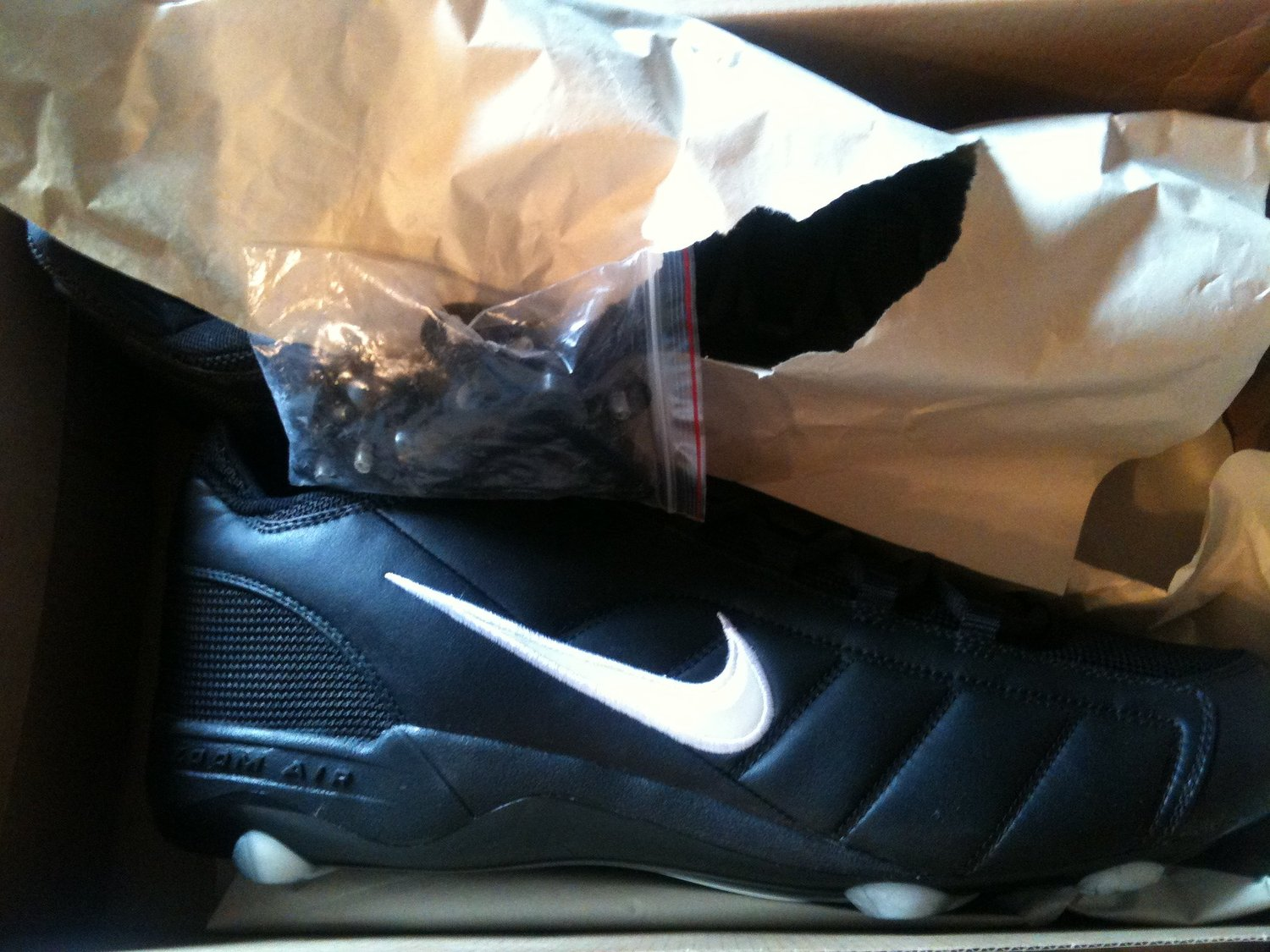 0a111c50e0f6 Get Quotations · Nike AIR Zoom Barracuda Football Cleats White Black 16