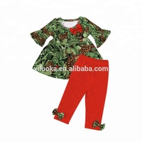Children's boutique persnickety clothes kids fancy suit little girls ruffle clothing set christmas baby outfits