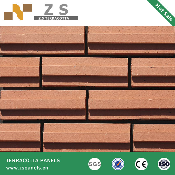 Wholesale Terracotta tile panel clay Curtain Wall Bricks brick Red ...