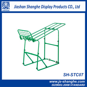 Fruit and vegetable display rack trolley supermarket equipment