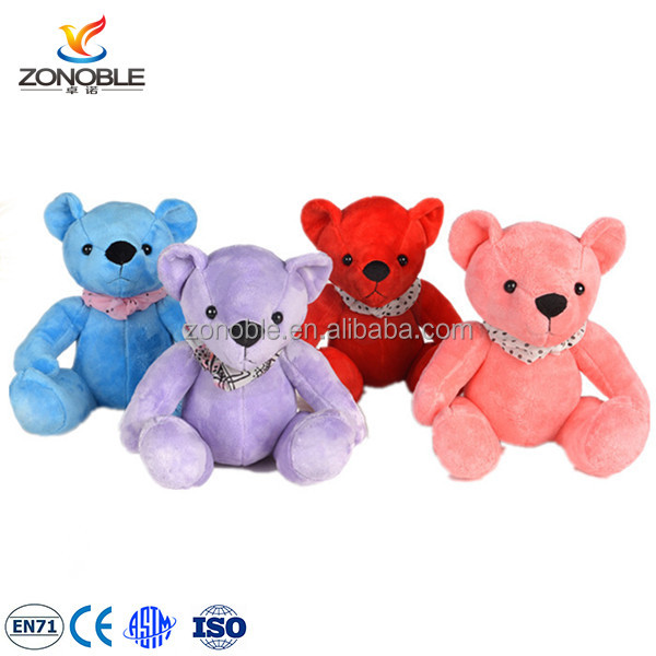 Fashion cute plush colorful teddy bear for kids custom pink teddy bear pictures