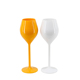 150ml 5.5oz thick wall heavy duty macaron colorful champagne flute wine glass