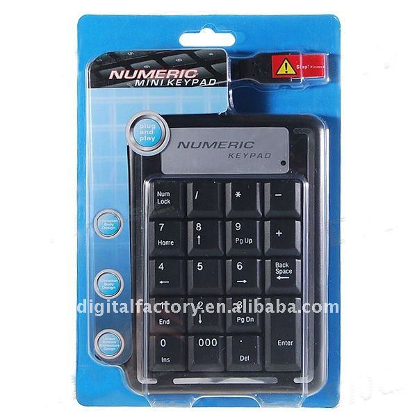 USB 19-Key Numeric Keypad/Numpad for Laptop