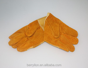 Berrylion high quality Golden Color Nice Looking Safety Gloves with good price